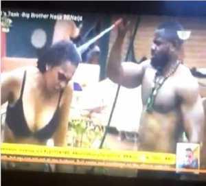 #BBNaija: Shock as TBoss Exposes Her Breasts Yet Again (Photos)